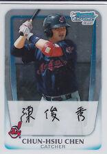 Chun-Hsiu Chen Cleveland Indians 2011 Bowman Prospects Chrome