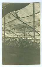 RPPC OLD CIRCUS  PHOTO, TRAPEZE PERFORMER SIZE OF OLD POSTCARD *ON SALE*  PC7252