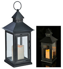 Laterne aus Metall mit LED Kerze 70271