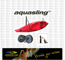 Aqua Sling by 'AquaRack' - Wall Mount Kayak, SUP, Ski Storage System, Strap Rack