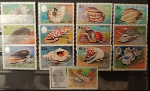 Cook Islands - Aitutaki -1974 - Sc 82 - 94 - Definitive Shells VF MNH