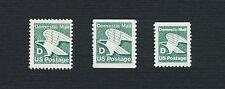 Scott #2111-2113 'D' - Rate Eagle 22c (Set of 3 Singles) 1985 MNH