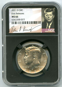 2021 D KENNEDY NGC MS66 HALF DOLLAR RETRO SIGNATURE LABEL FIRST RELEASES