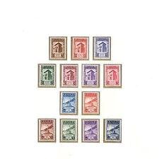 1943 San Marino serie fasci sammarinesi non emessi 13 v. ** MNH