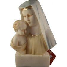 Statuette Très Sainte Vierge Marie enfant Jésus albatre 14 CM cadeau communion