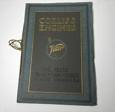 1914 VILTER CORLISS ENGINES MACHINERY BROCHURE CATALOG Wisconsin Governor