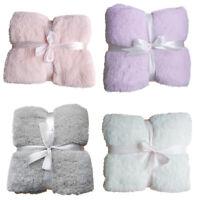 Soft Warm Solid Warm Micro Plush Flannel Blanket Fleece Throw Rug Sofa Bedding