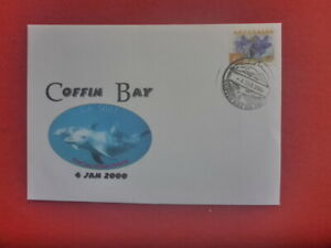 1ST DAY OF COFFIN BAY  DOLPHINS  PMARK 2000  SPECIAL COVER