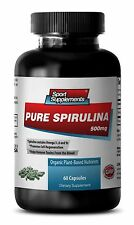 Organic SPIRULINA 500mg - 100% Plant-Based  Antioxidant Capsules - Vitamin E 1B
