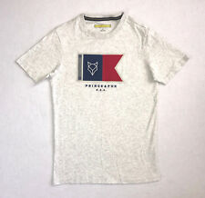Aeropostale Prince & Fox Men's Small Shirt Gray Logo Short Sleeve Shirt