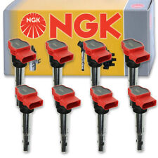 8 pcs NGK Ignition Coil for 2007-2012 Audi A8 Quattro 4.2L V8 - Spark Plug ut