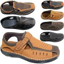 Mens Leather Sandal Slippers Caual Summer Shoes