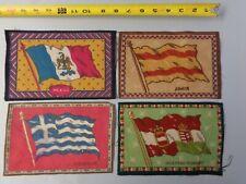 Lot of 4 Vint 1900's Tobacco Cigarette Felt- Greece, Spain, Mexico, Austria-Hung