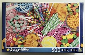 NEW Puzzlebug by Cra-Z-Art 500 Piece Puzzle - Candy Fun