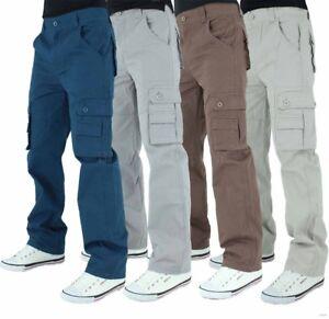Lee Cooper Men's Designer Cargo Combat Pants, New Trousers Jeans Era, Chinos