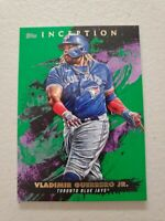 Vladimir Guerrero Jr 2021 Topps Inception Green Parallel #58 Toronto Blue Jays