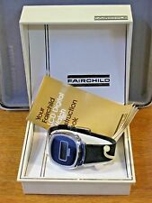 Fairchild 1970's Men's  LCD Digital Vintage Watch w/ Box & Papers Navy Blue Dial
