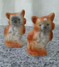 Vintage Chalkware Carnival Prize Candy containers Kittens