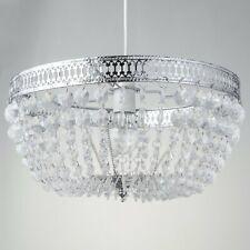 Lámpara De Techo De Cromo Moderno Deco Estilo Pantalla De Acrílico Cristal Colgante