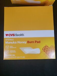 """30 CVS Health Sterile Manuka Honey Adhesive Burn Pads 4.3"""" x 4.3"""""""