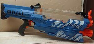 Nerf Rival Nemesis Blaster MXVII-10K - Blue- Tested, Works Great !