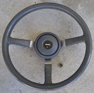 1984/95 Factory Steering Wheel Jeep CJ5 CJ7 Cherokee YJ Comanche Scrambler Grey