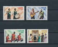 LM96130 Nevis christmas music instruments fine lot MNH
