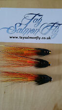 "3x Willie Gunn Snaelda 1/2"" Copper Tube Salmon Fishing Flies"