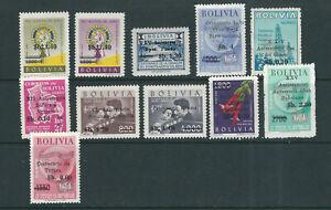BOLIVIA 1965 ANNIVERSARIES set (Scott C261-272 short C270) VF MLH