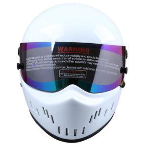 S M L Motorcycle Fiberglass Helmet Gloss Anti Crash Flip up Motocross For Bandit