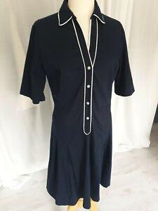 Ladies navy shirt dress classic office wear size 16