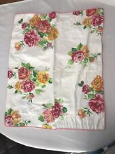 30 x 23 pillow Sham by Westpoint Stevens Roses Floral Pink Yellow White