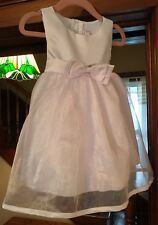 Flower Girl Dress Satin and Organza with Bow Accent for Little Girls 12 Months