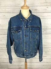 Da Uomo Wrangler Retro Giacca di Jeans-Large-Scuro Blu Navy Wash-ottime condizioni