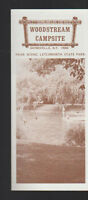 Woodstream Campsite Gainesville NY Brochure 1970s Near Letchworth State Park