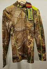Under Armour Men's Compression ColdGear Scent Control Realtree Xtra Mock Small/S