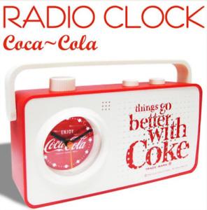 Coca cola Alarm Clock Radio Retro Design Red