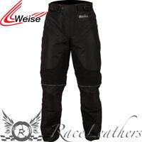Weise Némesis Pantalones Vaqueros Negro Pantalones Impermeable Moto Pantalones
