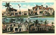 Florida, FL, Coral Gables, Beautiful Homes Early Postcard