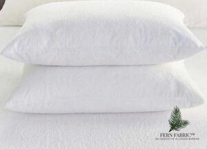 Fern Fabric® Pillow Protector Cotton Terry Anti-Allergen & Waterproof
