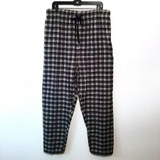 NEW Harbor Bay Men's  Pajama Bottoms Size 2XL Sleep Lounge Pants Black Plaid NWT
