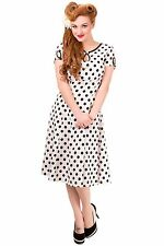 Round Neck Casual Plus Size Spotted Dresses for Women