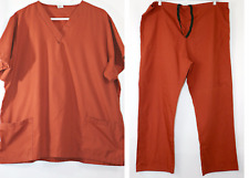 Fashion Seal Healthcare Scrub Top Scrub Pants Set Women's Large (Fits like XL)