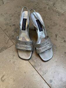 Lovely Evening Stuart Weitzman Sparkly Slingback Shoes Size 5