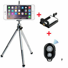 Camera Tripod Handle Stand Holder Bluetooth Remote Mobile Phone iPhone - Silver