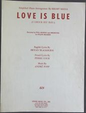Vintage Sheet Music LOVE IS BLUE 1968 PAUL MAURIAT and ORCHESTRA on PHILIPS REC.