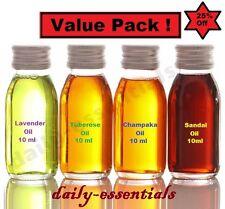 Value Pack  Pure & Natural Essential Oil  Lavender, Tuberose, Champaka, Sandal
