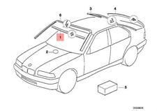 Genuine BMW 318i 325i 318ti 328i M3 1992 -1999 Windshield Moulding Trim Seal