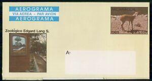 Mayfairstamps Nicaragua Aerogramme Zoologica Edgard Lang S Cover wwi_88937