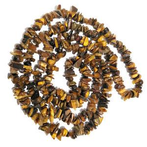 Tiger Eye Chip Beaded Crystal Necklace Stone Mala Reiki Healing Gemstone